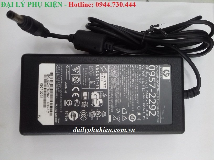 Adapter máy scanjet hp 24v 1500ma