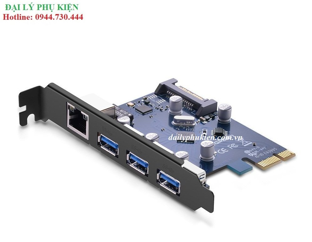 Card PCI Express sang USB 3.0 + Lan UGREEN 30775