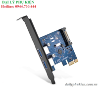 Card PCI Express sang USB 3.0 2 cổng UGREEN 30772
