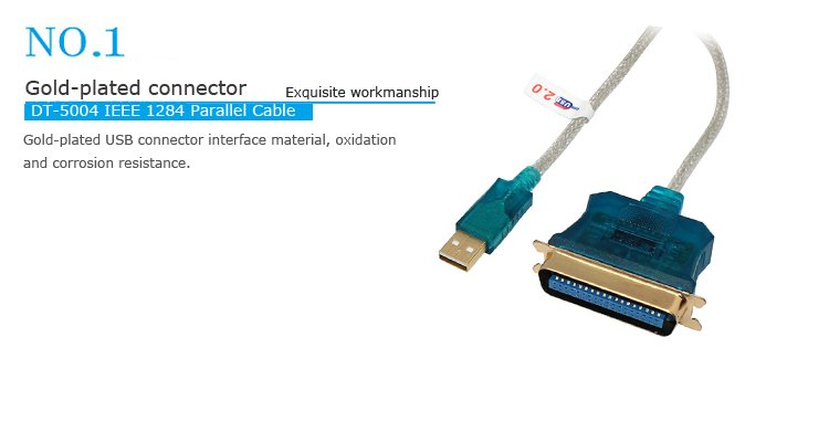 Cáp chuyển USB to Parallel, Cáp usb to parallel Dtech DT-5004